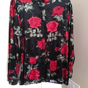 Bon Worth Velvet red Roses